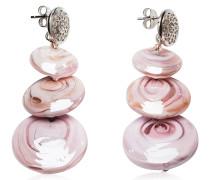 Monete 1 Ohrringe aus Muranoglas in pink und pastell