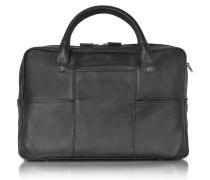 British Black Leather Briefcase w/13'' Laptop Compartment