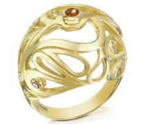 Mari Splash Boule Ring aus vergoldetem Silber