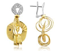 Fashion - Ohrringe aus 18k Gold in zweifarbig mit Diamant