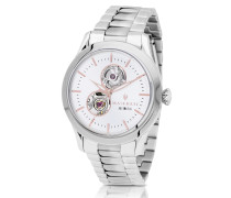 Tradizione Silver Tone Stainless Steel Men's Bracelet Watch