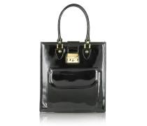 Schwarze Handtasche aus Lackleder