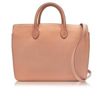 Open Pink Leather Small Handbag
