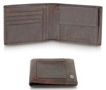 Vibe - Brieftasche aus Leder in dunkelbraun