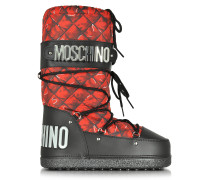 Red Printed Nylon Moonboot