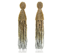 Long Ombre Tassel Clip-On Earrings