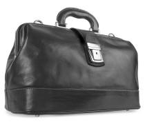 Arzttasche aus echtem italienischem Leder in schwarz