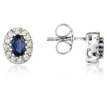 Sapphires and Diamond 18K Gold Earrings
