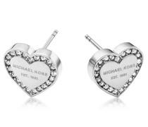 Heritage Ohrringe mit Herz und Kristallen