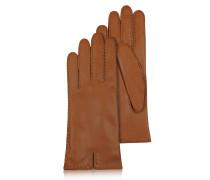 Braune Damenhandschuhe aus italienischem Leder