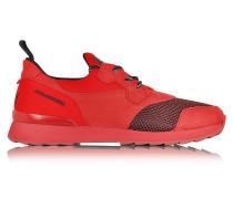 Running R261 Herren Sneaker aus Nubukleder und Neopren in rot
