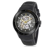 Corsa Black Stainless Steel Automatic Skeleton Men's Watch