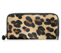 Brieftasche aus Pferdehaar mit Rundum-Reißverschluss