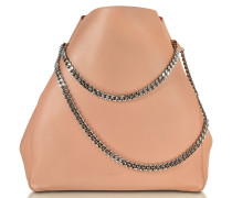Open Pink Soft Leather Link Shopper