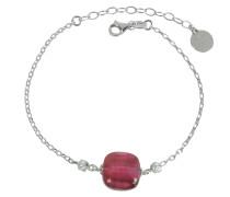 Florinda Ruby Armband aus Sterlingsilber und Muranoglas