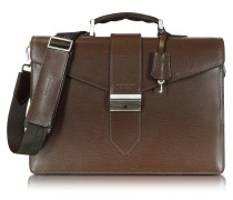 New Class Leather Briefcase w/Shoulder Strap