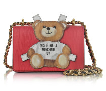 Teddy Bear Schultertasche aus Saffian Leder