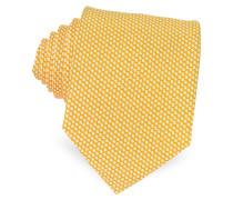 Bicolor Woven Silk Tie