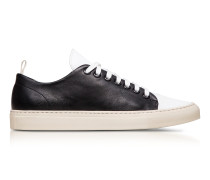 Sorrento Black and White Leather Low Top Men's Sneakers