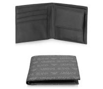 Herren Brieftasche aus Textilleder mit Logo und Muster