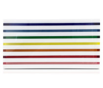 Rainbow Stripe Large Box Clutch