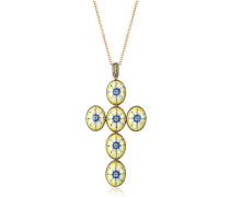 Capri Halskette aus Silber Zirkon und Emaille