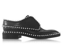Wendie Oxford Schuhe aus Leder in schwarz mit Nieten