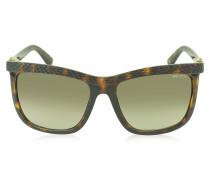 REA/S 791HA Sonnenbrille aus Acetat mit Echsenmuster