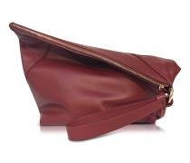 Origami Red Wine Handtasche aus Leder