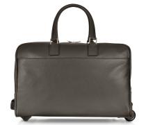 Reisetasche/Trolley aus Leder mit Rollen
