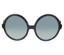EP39 große Sonnenbrille in runder Form aus Acetat und Metall