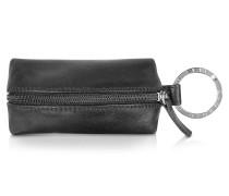 Classica - Schlüsselanhänger aus Kalbsleder in schwarz