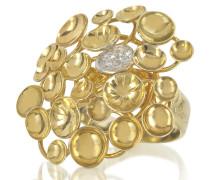 Bouquet Ring aus 18k Gelbgold mit Diamanten
