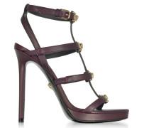 Burgundy Medusa Sandale aus Leder in burgund