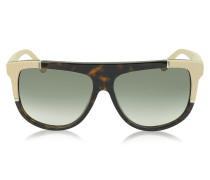 BA0025 Damen-Sonnenbrille aus Acetat mit Kautschukdetail
