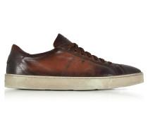 Low Top Herren Sneaker aus Leder in braun