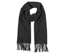 Solid Wool Signature Long Scarf w/Fringe