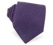 Extra lange Krawatte aus Kaschmir in schlicht purpur
