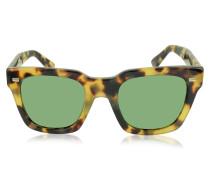 GG 1099/S 00FDJ Quadratische Sonnenbrille aus Acetat in Havanna