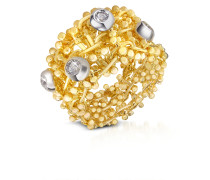 Ring aus 18k Gelbgold mit Diamanten