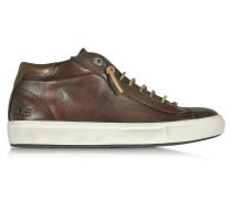Mid Urban Herren Sneaker aus Nappaleder in braun