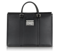 Power Elegance Double Handles Leather Briefcase