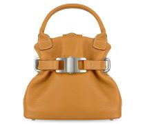 Kleine Handtasche aus weichem Leder in kamelfarben