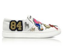 Mercer Slip On Sneaker aus Baumwolle in weiß mit verschiedene Mustern