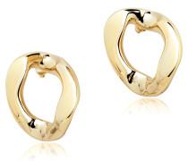 Golden Brass Link Earrings
