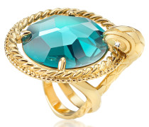 Just Queen Crystal Ring in gold