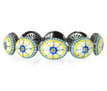 Capri Armband Silber Zirkon und Emaille