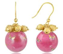 Alchimia - Ohrringe mit rundem Anhänger und Goldverzierung