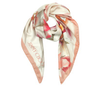 Shoe and Floral Printed Silk Square Scarf