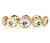 Capri Armband aus Silber Zirkon und Emaille